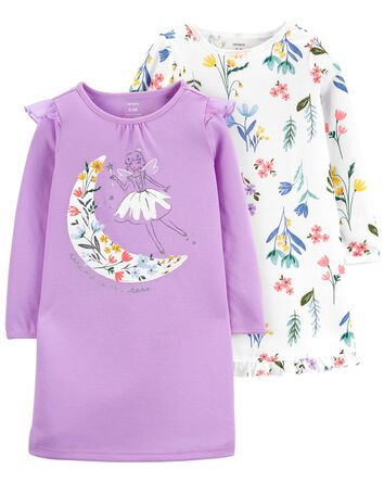 2-Pack Floral Fairy Nightgowns