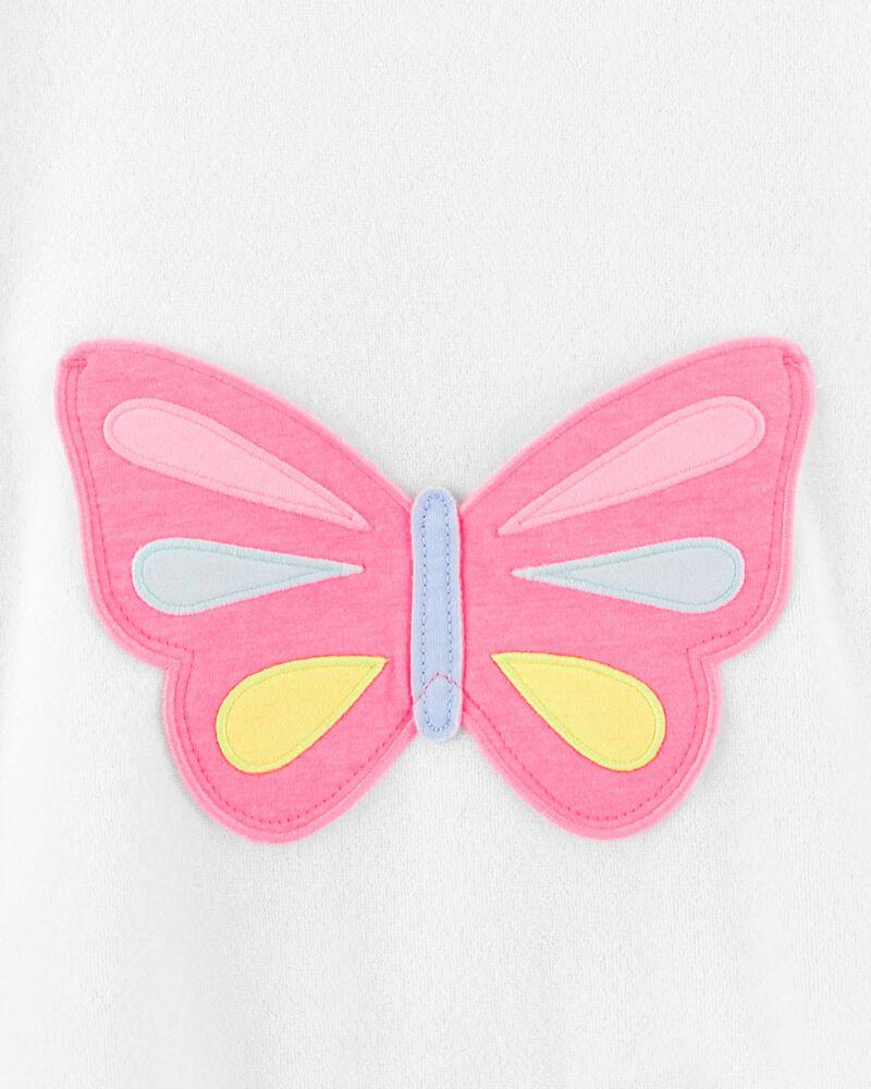 Cache-maillot à capuchon et papillons, , hi-res