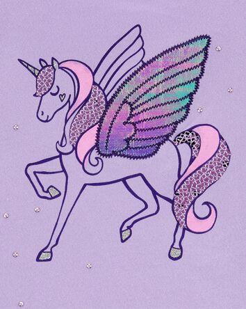 Flutter Sleeve Unicorn Tee