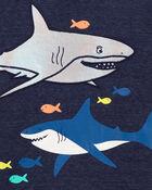 T-shirt en jersey chiné requin, , hi-res