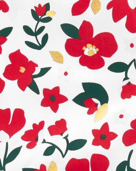 Robe des Fêtes en satinette fleurie