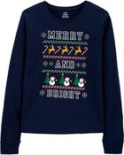 Merry and Bright Holiday Jersey Tee, , hi-res