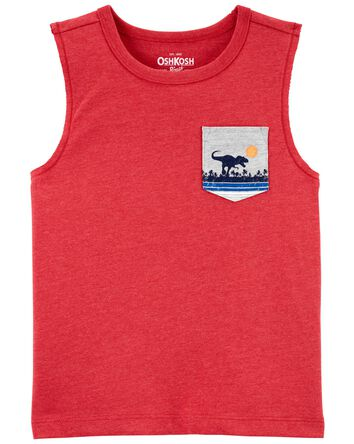 T-shirt avec poche à tyrannosaure