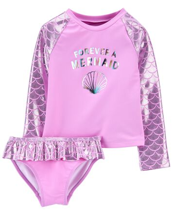 Sparkle Mermaid Rashguard Set