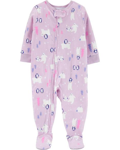 Pyjama 1 pièce en molleton féerie hivernale