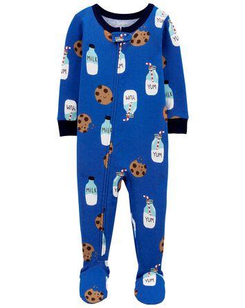 Pyjama 1 pièce en coton ajusté à pi...