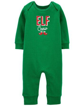 Elf Snap-Up Cotton Footless Sleep &...
