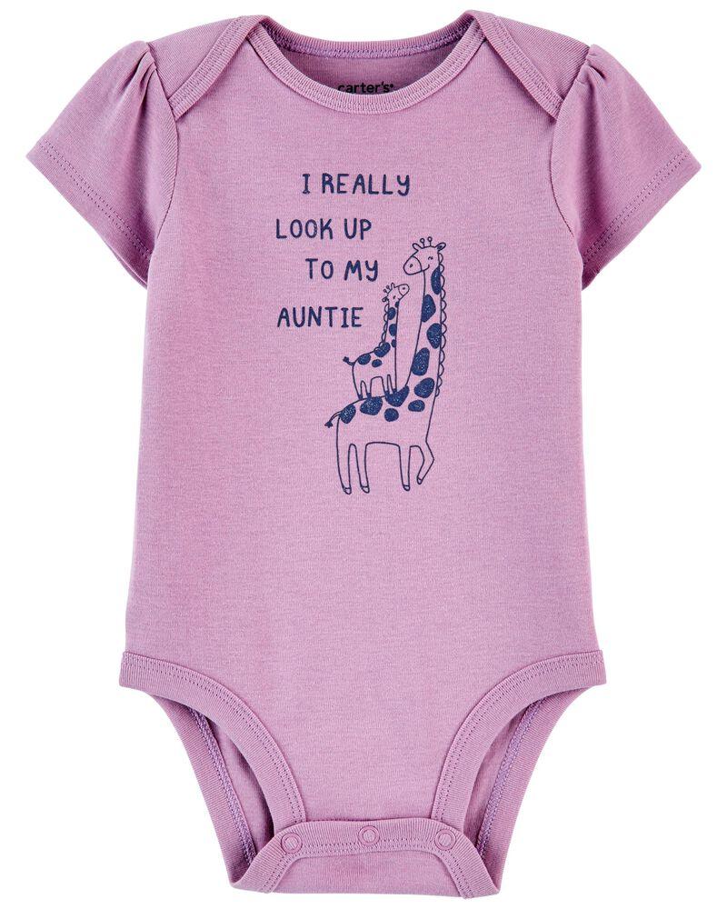 Giraffe Aunt Original Bodysuit, , hi-res