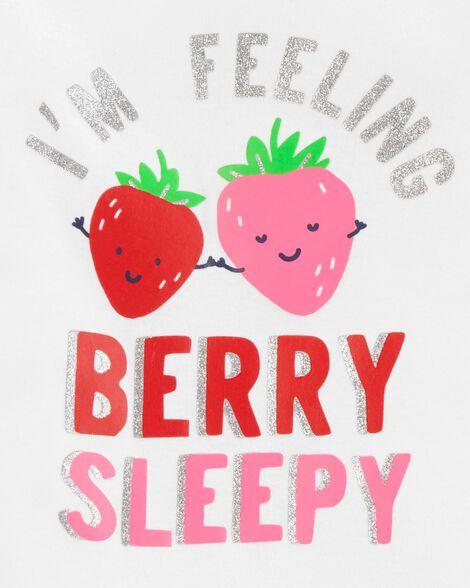 4-Piece Strawberry Snug Fit Cotton PJs