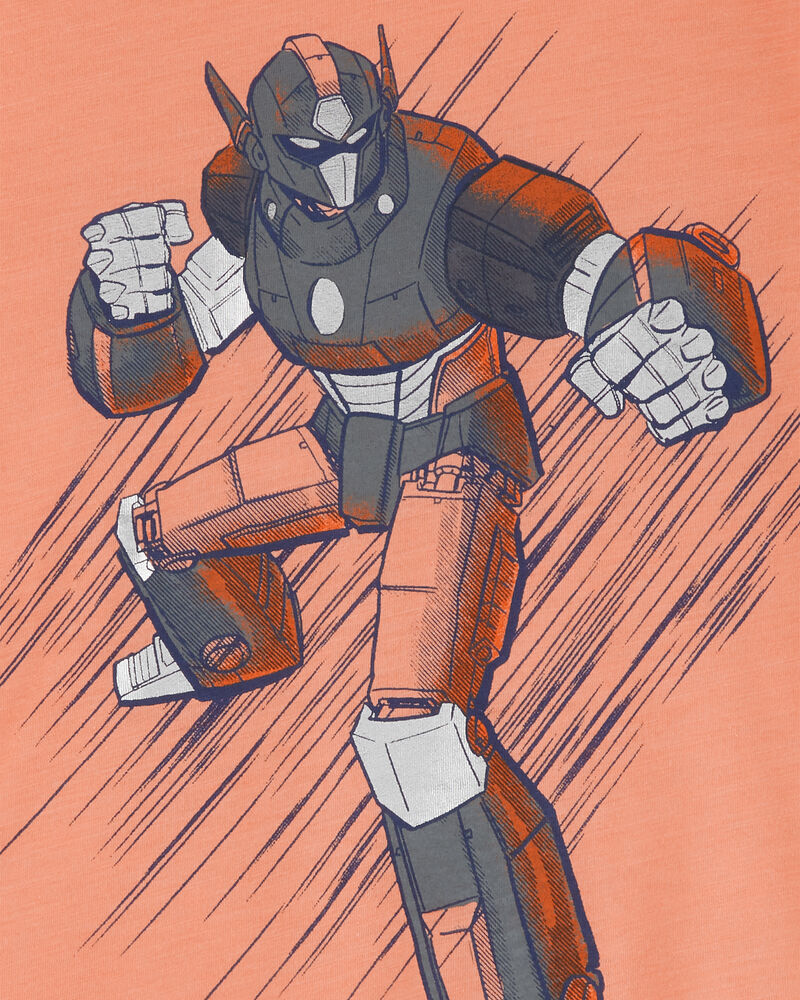 T-shirt en jersey chiné Robot, , hi-res