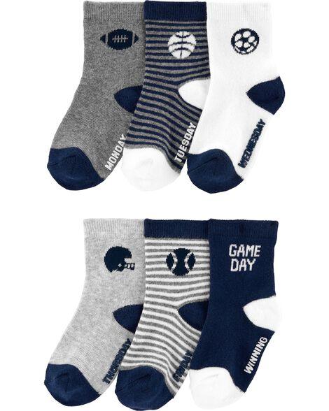 6 paires de chaussettes de sport mi-mollet