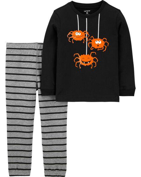 Ensemble 2 pièces t-shirt en jersey et pantalon de jogging Halloween