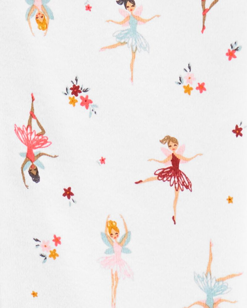 1-Piece Ballerina 100% Snug Fit Cotton Footless PJs, , hi-res
