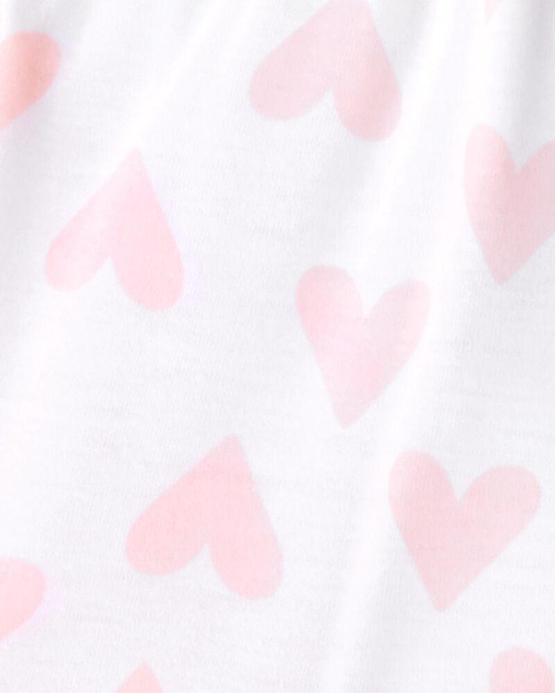 Pyjama 3 pièces de coupe ample à cœurs, , hi-res