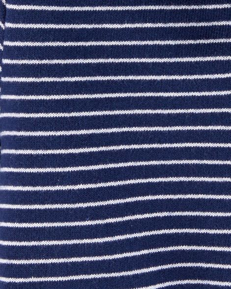 Striped Zip-Up French Terry Hoodie