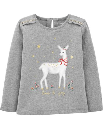 Holiday Reindeer Jersey Tee