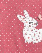 2-Piece Bunny Peplum Bodysuit Pant Set, , hi-res