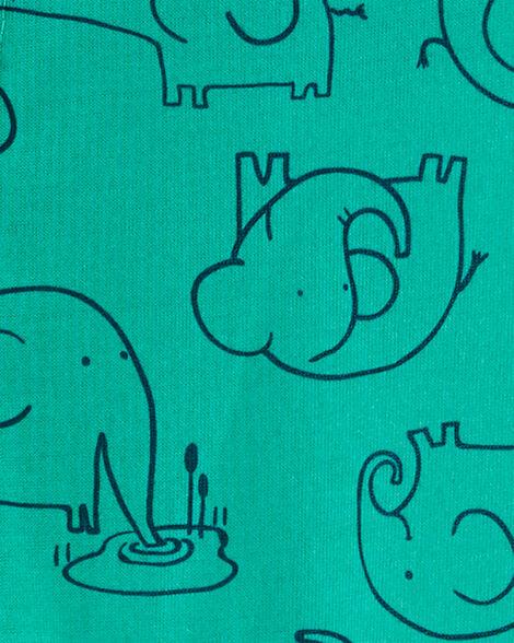 1-Piece Elephant Poly Footie PJs