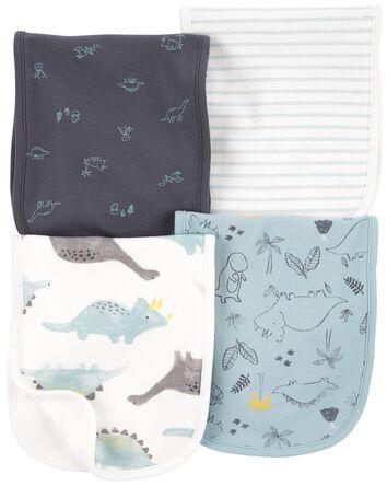 4-Pack Dinosaur Burp Cloths