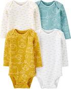 4-Pack Sheep Original Bodysuits, , hi-res