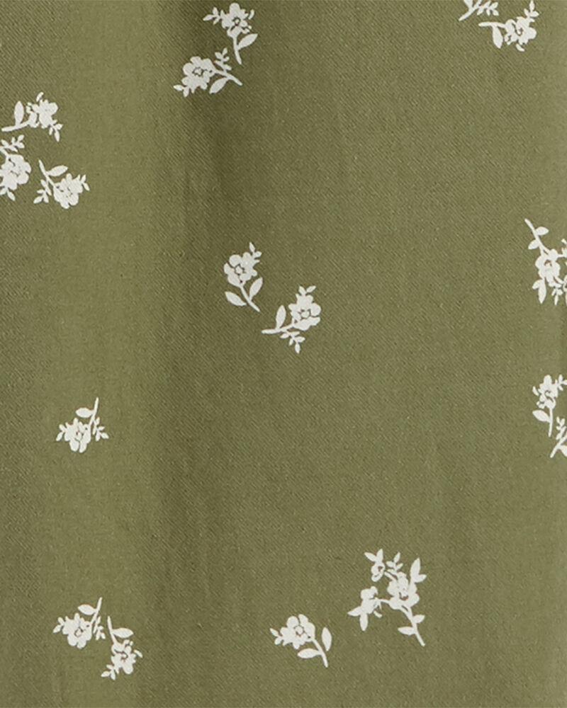 Floral Drawstring Overalls, , hi-res