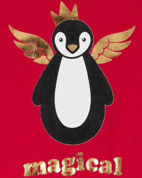 Tunique à capuchon à pingouin magique