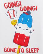 4-Piece Baseball 100% Snug Fit Cotton PJs, , hi-res