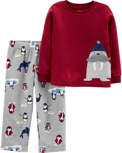 Pyjama 2 pièces en molleton morse