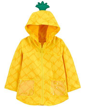 Pineapple Print Rain Jacket
