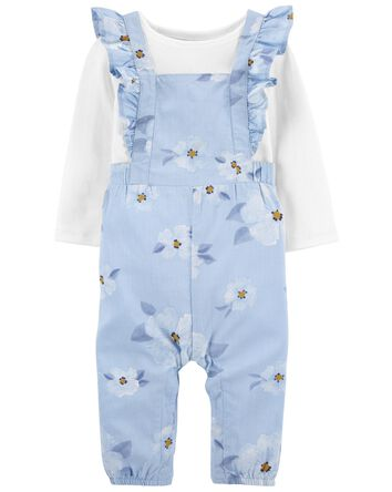 2-Piece Tee & Floral Jumpsuit Set
