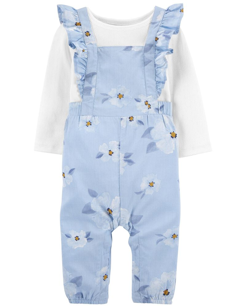2-Piece Tee & Floral Jumpsuit Set, , hi-res