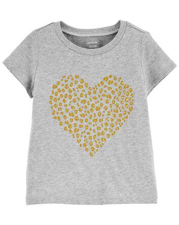 T-shirt en jersey à cœur lépopard