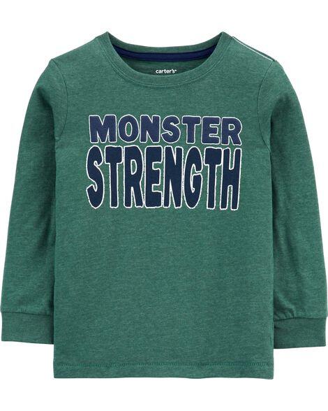 Monster Strength Snow Yarn Tee