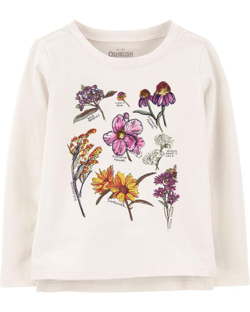 T-shirt fleuri, , hi-res