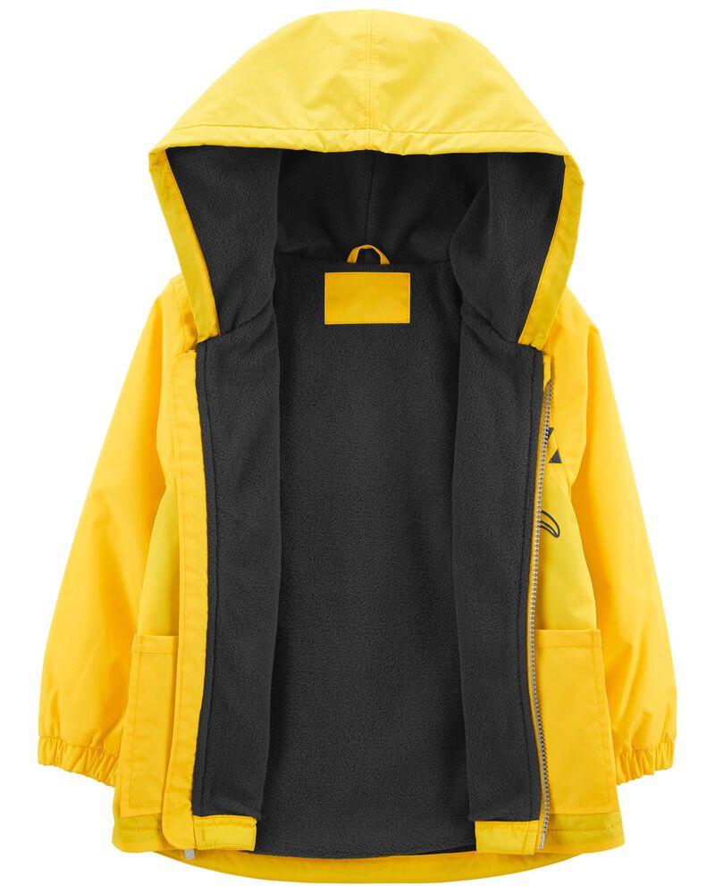 Fleece-Lined Construction Rain Jacket, , hi-res