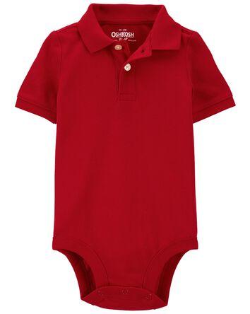 Pique Polo Bodysuit