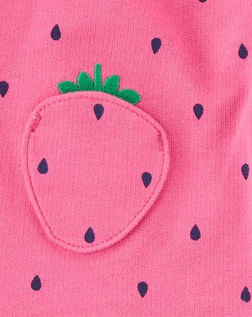 3-Piece Strawberry Little Vest Set