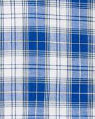 2-Piece Plaid Button-Front Shirt & Poplin Short Set, , hi-res