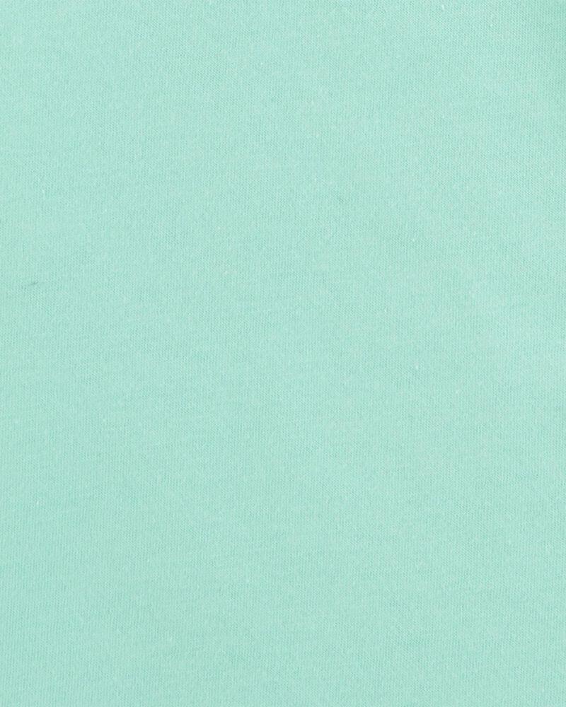 Turquoise Cotton Tee, , hi-res