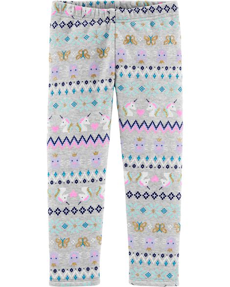 Fair Isle Boa Fleece Leggings