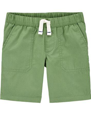 Pull-On Poplin Shorts
