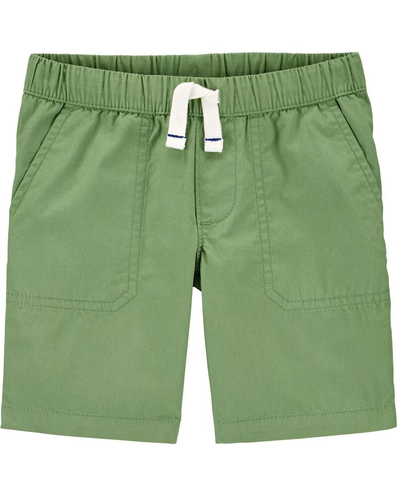Pull-On Poplin Shorts, , hi-res