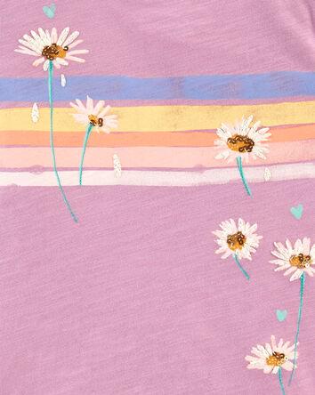 Rainbow Daisies Tee