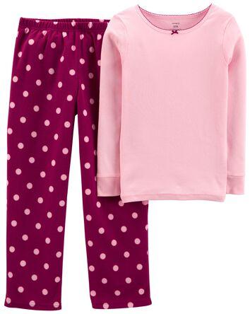 Pyjama 2 pièces de coupe ample en p...