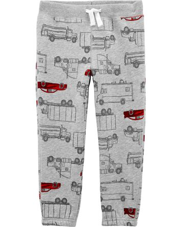 Car Pull-On Fleece Pants