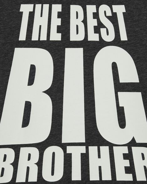 Best Big Brother Ever Snow Yarn Tee