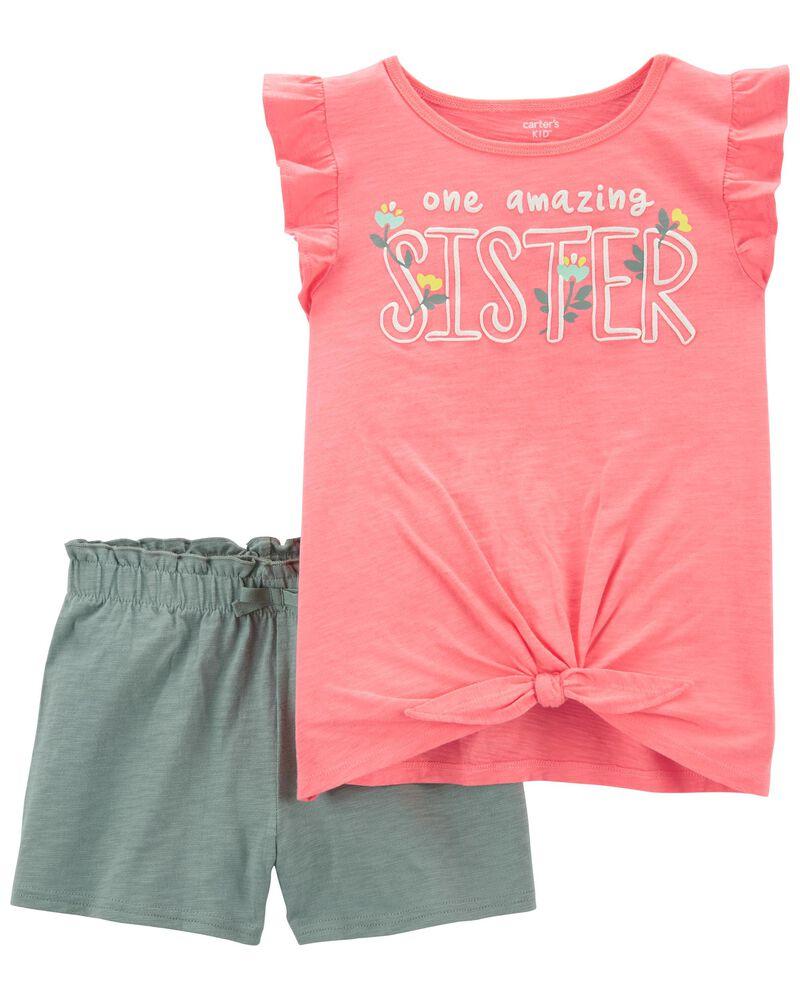 2-Piece Sister Jersey Tee & Short Set, , hi-res