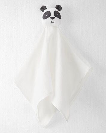 Doudou panda en mousseline de coton...