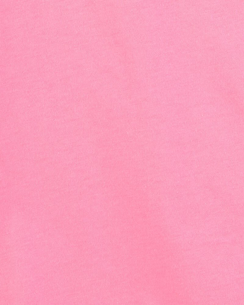 T-shirt en coton rose, , hi-res