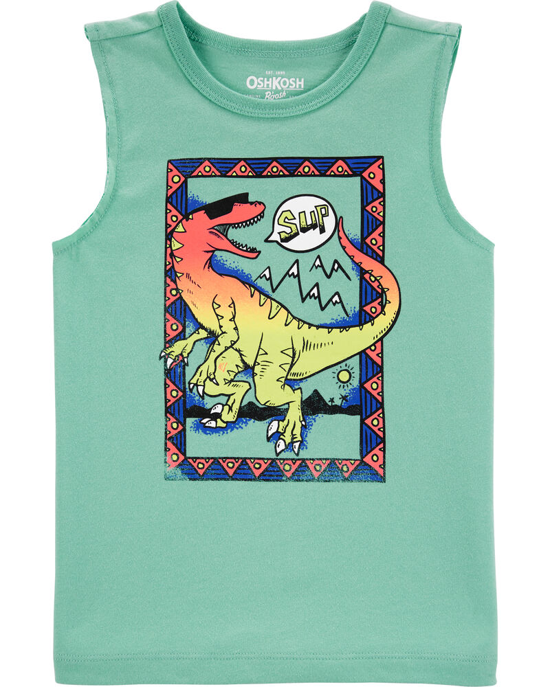 Ombre Dinosaur Muscle Tank, , hi-res